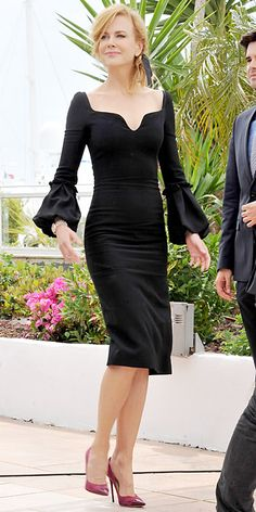 Who Is the Queen of the Cannes Film Festival 2013? - Nicole Kidman in Alexander McQueen . . . Nicole Kidman in a black pencil dress by Alexander McQueen.