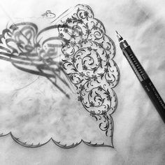 #drawing #illumination #blackandwhite #design #artwork #mywork #istanbul #turkey Pattern Drawing, Pattern Art, Illumination Art, Turkish Art, Mandala Drawing, Hand Embroidery Designs, Tile Art, Illuminated Manuscript, Islamic Art