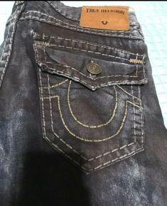 ec8e8287d Mens True Religion Ricky Straight Leg Jeans 34x32 100% Authentic  fashion   clothing