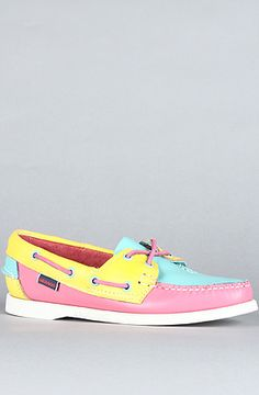 $96 Sebago The Maine Spinnaker Boat Shoes in Hot Pink Citrus on Karmaloop (Use repcode SMARTCANUCKS for an extra 20%OFF at the checkout on Karmaloop.com)
