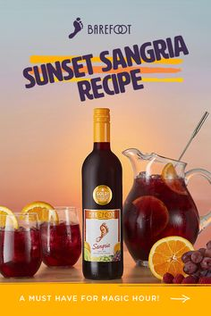 Sunset Sangria: Bringing summer back with the perfect Sunset Sangria drink Sangria Drink, Booze Drink, Liquor Drinks, Cocktail Drinks, Alcoholic Drinks, Cocktails, Martinis, Sangria Recipes, Drinks Alcohol Recipes