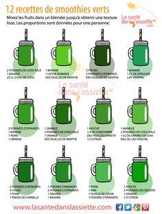 smoothie vert detox épinard