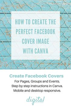 How to design the perfect Facebook cover for Facebook Pages, Facebook Groups and Events with   Canva   Canva tips   Facebook Cover   Facebook Group   Facebook Marketing    Facebook Tips   Social Media   DIY graphic design   #canva #canvatips #onlinebusiness #socialmedia #socialmediamarketing #socialmediatips #facebook #facebooktips