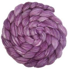CTA SAL Special Edition Merino Bamboo Silk Blend Roving - 4 oz. Plum - Spinning Fiber. $19.00, via Etsy.