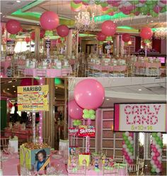 Candyland Party Theme Ideas - Balloon Centerpieces & Photos with LED Lights by Balloon Artistry - mazelmoments.com