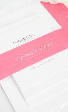 Pretty pink & polka dots - Such a pretty invitation! Save The Date Invitations, Wedding Invitations, Invites, Stationery Paper, Wedding Stationery, Wedding Ideias, Wedding Cards, Wedding Stuff, Wedding Announcements