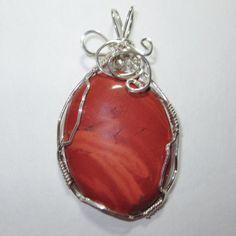 Red jasperwire wrapped jewelry handmadewire by WireWrapJewels, $27.00