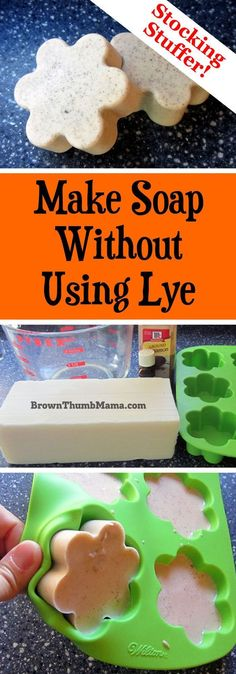 There's an answer for us scaredy-cat soapmakers who don't want to use caustic lye when making soap! This method is easy and safe to do with kids around. #soapmakingbusiness
