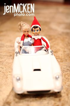 Elf on the shelf hanging out with Barbie! I am sure to see them together at our house.he might even party in the barbie mansion ! Pink Jeep, Vintage Barbie, Boss Babe, A Shelf, Shelves, Shelf Elf, Planner Stickers, Elf Auf Dem Regal, Barbie Car