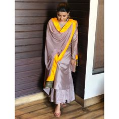 Talking badly about someone says more about you than the person you're talking about . Suit by Jutti by… Dress Indian Style, Indian Fashion Dresses, Pakistani Dresses, Indian Outfits, Designer Punjabi Suits, Indian Designer Wear, Indian Attire, Indian Wear, Punjabi Fashion