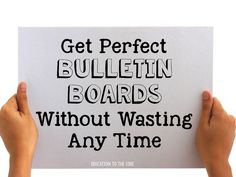 Education to the Core: Bright Ideas: Get Perfect Bulletin Boards Without Wasting Any Time