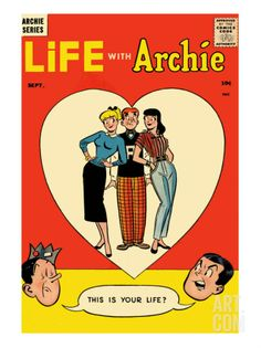 Archie Comics Retro: Life with Archie Comic Book Cover No.1 (Aged) Print by Harry Lucey at Art.com