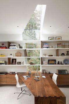 unique wooden desk in this design studio with natural lighting bandero office desk 100