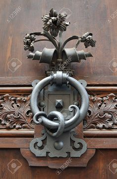 Decorative Antique Door Handle Stock Photo, Picture And Royalty Free Image. Pic 21448022.