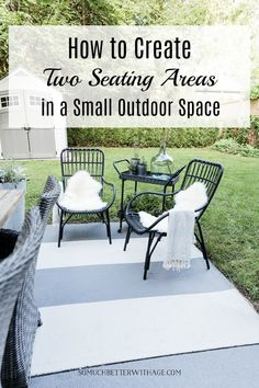 I'll show you how to create two outdoor seatings areas in a small space today. I love having an eating area and a cozy spot to enjoy a glass of wine. We are want to say thanks if you like to share this post to another people via your fa. Small Outdoor Spaces, Outdoor Seating Areas, Small Patio, Small Spaces, Outdoor Lighting, Outdoor Decor, Outdoor Life, Outdoor Ideas, Outdoor Furniture Plans
