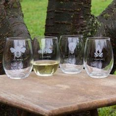 Tipsy Stemless Wine Glasses #WineHumor