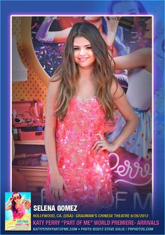 "#SelenaGomez at ""Katy Perry: Part of Me"" Los Angeles Premiere - Arrivals. #KatyPerryNOW #PartofMe3d #NOW"