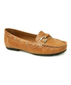 Another great find on #zulily! Tan Buckle-Detail Moccasin #zulilyfinds
