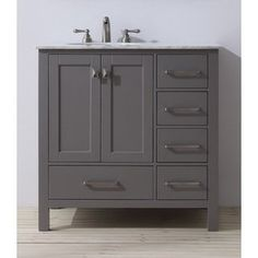 Shop for Stufurhome 36 inch Malibu Grey Single Sink Bathroom Vanity. Get free delivery at Overstock.com - Your Online Furniture Outlet Store! Get 5% in rewards with Club O!
