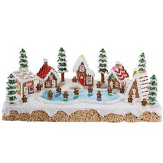 If you're looking for a dessert that will shock and amaze, look no further than this Skating Retreat Gingerbread Village. Cool Gingerbread Houses, Gingerbread House Designs, Gingerbread Village, Christmas Gingerbread House, Christmas Cookies, Gingerbread Men, Gingerbread Recipes, Family Tree Cakes, Ginger House