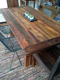 Reclaimed Old Growth Teak Dining Table, 3' x 6' - contemporary - dining tables - boise - Impact Imports