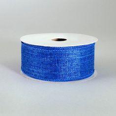 "1.5"" Metallic Royal Canvas Ribbon: Royal Blue (10 Yards) Deco Mesh Ribbon, Wired Ribbon, Fabric Ribbon, Ribbon Colors, Halloween Deco Mesh, Fall Halloween, Craft Outlet, Christmas Deco, Home Textile"