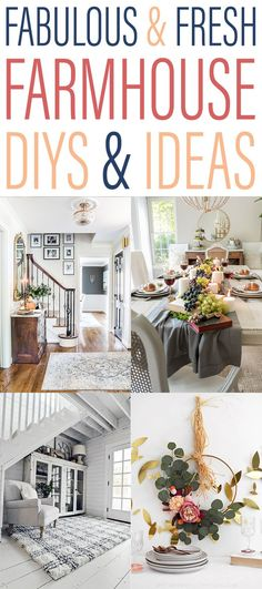 Fabulous and Fresh Farmhouse DIYs and Ideas that you are going to want to try!  #Farmhouse #FarmhouseDIYS #FarmhouseProjects #FarmhouseChristmas