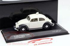 CK-Modelcars - 431051291: Volkswagen VW 1200 Export полиция Нидерланды год 1951 белый 1:43 Minichamps, EAN 4012138097421