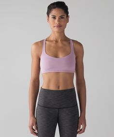 When your movement isn't restricted and your gear doesn't need to be adjusted, you feel free to be completely in the moment. We wanted to harness that feeling in a bra, so we created this lightweight sports bra. It has skinny cross-back straps to give your shoulders full range of movement as you flow through your poses, and technical fabric that wicks away sweat. We chose our Luxtreme® fabric as the base of this bra for its technical properties, cool, smooth feel and second-skin fit. ...