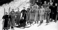After over a century in the sport, women finally allowed to compete in ski jumping @Ariana da Frota. Photo: Norway, 1897