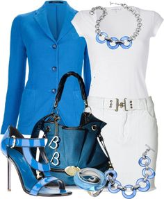Blue and white ♥✤ | Keep the Glamour | BeStayBeautiful