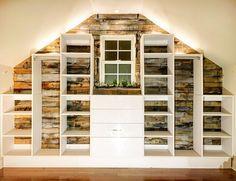 #ModularClosetDIYs: How To Design A Pallet Wall Closet With A Slanted Ceiling
