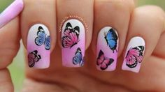 uñas mariposas - YouTube