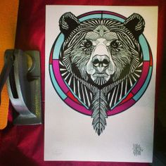 luke dixon #bear #art