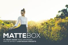 MatteBox Lightroom Presets by Hydrozi on @creativemarket