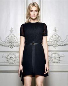 robe noire de kaviar gauche pour zalando collection