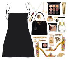 """Livvy"" by sophiehackett ❤ liked on Polyvore featuring MAC Cosmetics, Paula Mendoza, Michael Kors, Prada, AMBUSH, Gucci, Clarins, Chanel, ZARKOPERFUME and Yves Saint Laurent"