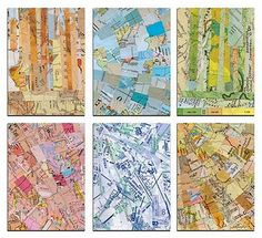 Tofuart.com; this SF artist is the most amazing master of map collage