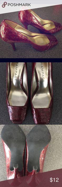 Rampage 2inch Red Crocodile Heels 7M Rampage 2inch Red Crocodile Heels 7M. Excellent condition! Rampage Shoes Heels