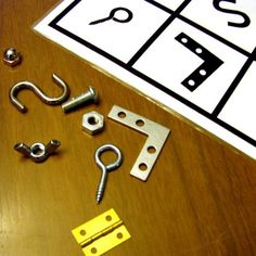 Hardware Lotto - Matching Objects to their Shadows - Beginning Language Educational Material Professor, Autism Activities, Classroom Games, Montessori Toddler, Mamas And Papas, Carpentry, Techno, Robot, Cool Stuff