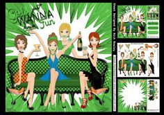 Girls just wanna have fun party time Green 8x8 mini kit on Craftsuprint - Add To Basket!