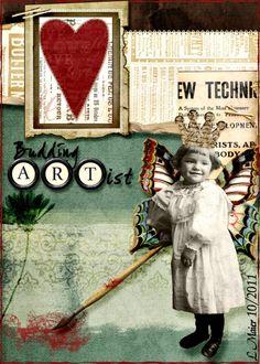 Digital ATC ~ Budding Artist