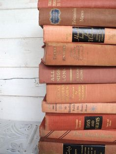 Faded Orange Instant Library Book Collection by by sorrythankyou79