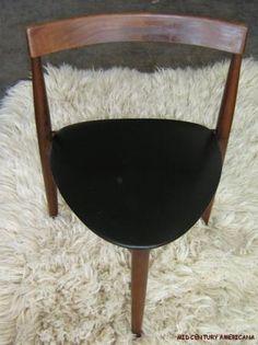 Frem Rojle Danish 3-Leg Dining Chair  | Vintage 1960's Hans Olsen Frem Rojle Danish Modern Dining Chair ...