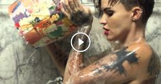 "Tattooed Model Ruby Rose Takes A Bath And ""Breaks Free"" - A short film about gender roles, Trans and what it is like to have an identity that deviates from the status quo."