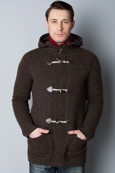 Mens Duffle Coat Classic -- Wooden Toggles - Navy Blue | 0010 ...