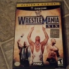 By jaydoucet13: This was another gamecube exclusive game but pretty bizarre actually. You had typical wrestlers and a decent roster but then you had an odd story mode that took place in constriction yards and malls and you unlocked very useless characters that were not wrestlers. I had some good moments with this game but now that i look at it its actually pretty weird and not much has to do with wrestlemania besides playing the arena. Its decent i suppose #wwe #wrestlemania #nintendo…