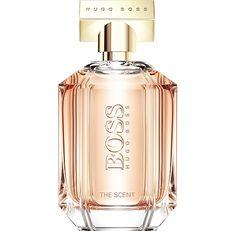 Boss The Scent For Her de Hugo Boss este un parfum Floral Fructat Gurmand de dama. Notele de varf sunt piersica si frezie; nota de mijloc este osmanthus; nota de baza este cacao.