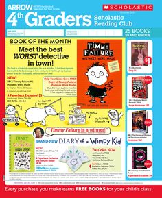 It's the October 2013 Scholastic Reading Club Flyer for 4th Graders!