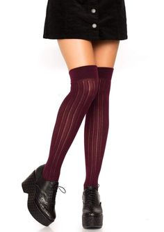 WHITE OVER THE KNEE SOCKS WITH RED  HEART HOLD UPS FANCY DRESS MULTI QUEEN